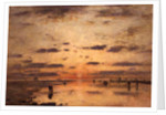Low Tide and Sunset, 1885 by Eugene Louis Boudin