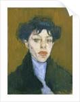 Woman with a Blue Scarf, c.1912 by Amedeo Modigliani