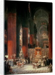 Procession in Seville Cathedral, 1833 by David Roberts