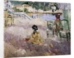 The beach at Nice, 1882 by Berthe Morisot