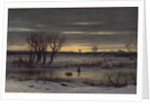 Winter Twilight Near Albany, 1858 by George Henry Boughton