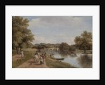 Richmond Bridge from the Towing Path, Surrey by Thomas Christopher Hofland
