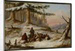 Moose Hunters, c.1859 by Cornelius Krieghoff