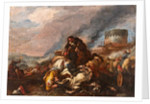 Battle between Knights and Turks by Il Borgognone