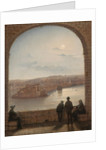 A Moonlit View of Fort St Angelo, Valletta, 1887 by Giancinto Gianni