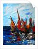 Voiliers au port a bainet by Patricia Brintle
