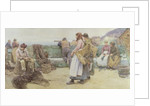 In a Cornish Fishing Village: Departure of the Fleet for the North, 1886 by Walter Langley