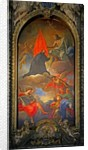 Painting of a saint with Christ, angels and worshippers by Giovanni Battista Gaulli