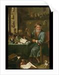 The Alchemist's study by David the Elder Teniers