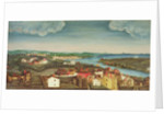 Fireboard depicting a view of Beverly, 1800-20 by American School