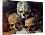 Pyramid of skulls, 1898-1900 by Paul Cezanne