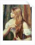 Blonde girl combing her hair, 1894 by Pierre Auguste Renoir