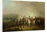 The Eagle Standards Taken at Waterloo Returned to Wellington, 18th June 1815 by Mathieu Ignace van Bree