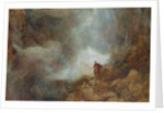 Arthur in the Gruesome Glen by Henry Clarence Whaite