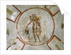 Ceiling of the Chapel of the Good Shepherd, Catacombs San Callisto, Rome by Roman
