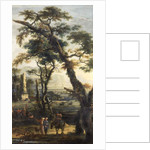 Landscape with beggars by Joos or Josse de The Younger Momper