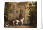 William Henry Cavendish Bentinck, 3rd Duke of Portland in front of Welbeck Abbey Riding Stables, 1766-7 by George Stubbs