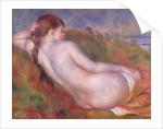 Reclining nude in a landscape by Pierre Auguste Renoir
