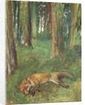 Dead fox lying in the Undergrowth, 1865 by Edgar Degas