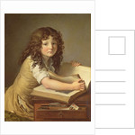 A child looking at pictures in a book by Anne Louis Girodet de Roucy-Trioson