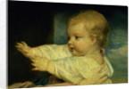 Portrait of Caroline, Duchess of Marlborough with her daughter Lady Caroline Spencer by Joshua Reynolds