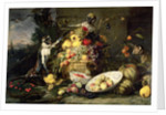 Three Monkeys Stealing Fruit by Frans Snyders or Snijders
