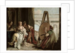 Alexander and Campaspe at the house of the painter Apelles by Giandomenico Tiepolo