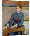 Portrait of Helene Rouart in her Father's Study by Edgar Degas