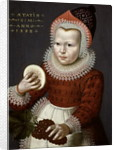 Portrait of a Young Girl Holding Bread and Grapes, 1598 by English School