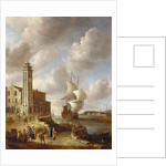 The Herring Packer's Tower, Amsterdam, with Figures by Anthonie Beerstraten