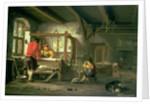 A Weaver's Workshop by Johannes Dircksz van Oudenrogge