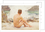 Charlie Seated on the sand, 1907 by Henry Scott Tuke