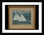 Two Sailing Boats, c.1930 by Alfred Wallis