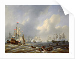 The Battle of Camperdown on 11th October 1797 by Petrus Johann Schotel