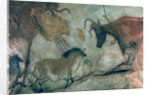 Rock painting showing a horse and a cow, c.17000 BC by Prehistoric Prehistoric