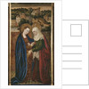 Triptych, Visitation, central panel by Spanish & Flemish School