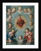 Sacred Heart of Jesus surrounded by angels, c.1775 by Jose de or Joseph Paez