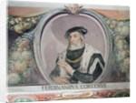 Hernan Cortés, in the Sala del Mappamondo by Italian School
