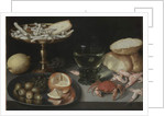 Still life with fruit, sweets, crustaceans, a glass and a mouse, c.1620 by Peter Binoit