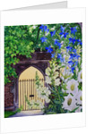 Flowers by a sunlit gateway by Christopher Ryland