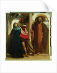 Jezebel and Ahab Met by Elijah, c.1862-3 by Frederic Leighton