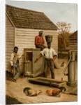Barnyard Cock Fight, 1860 by Benjamin J. Severance