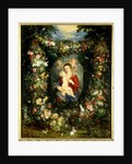 The Virgin and child in a garland of fruit and flowers, c.1614-18 by Jan & Rubens P.P. Brueghel
