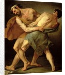 Two Wrestlers by Cesare Francazano