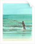 Lone Fisherman 1 by Lincoln Seligman