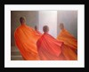 Four Monks on Temple Steps by Lincoln Seligman