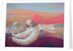 Maharaja, boy + cheetah by Lincoln Seligman