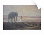 Boy and Elephant by Lincoln Seligman