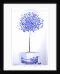 China Blue Tree set in a Niche by Lincoln Seligman