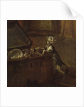 Cat with a chest by William Hogarth